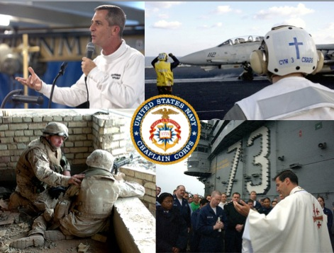 Navy Chaplains in action