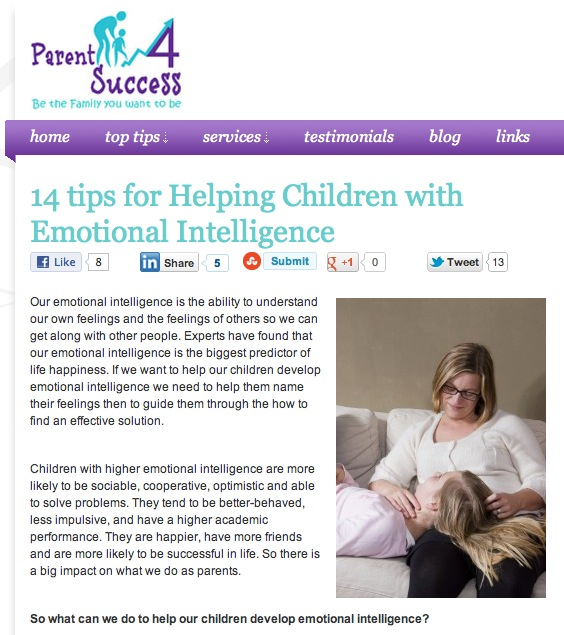14 Tips for Helping Children with Emotional Intelligence