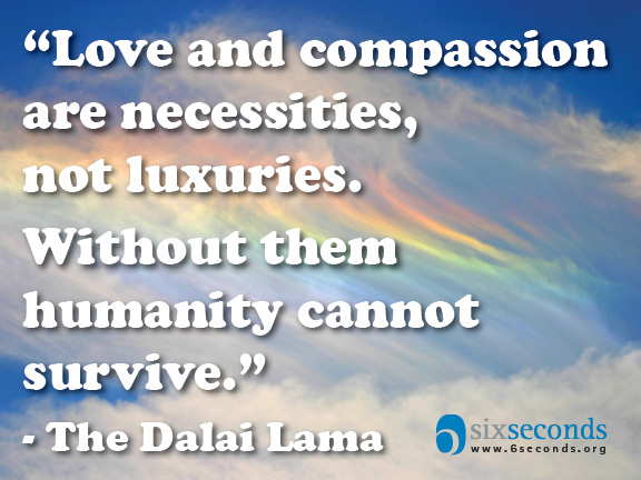 "Is compassion ""nice"" or ""need""?"