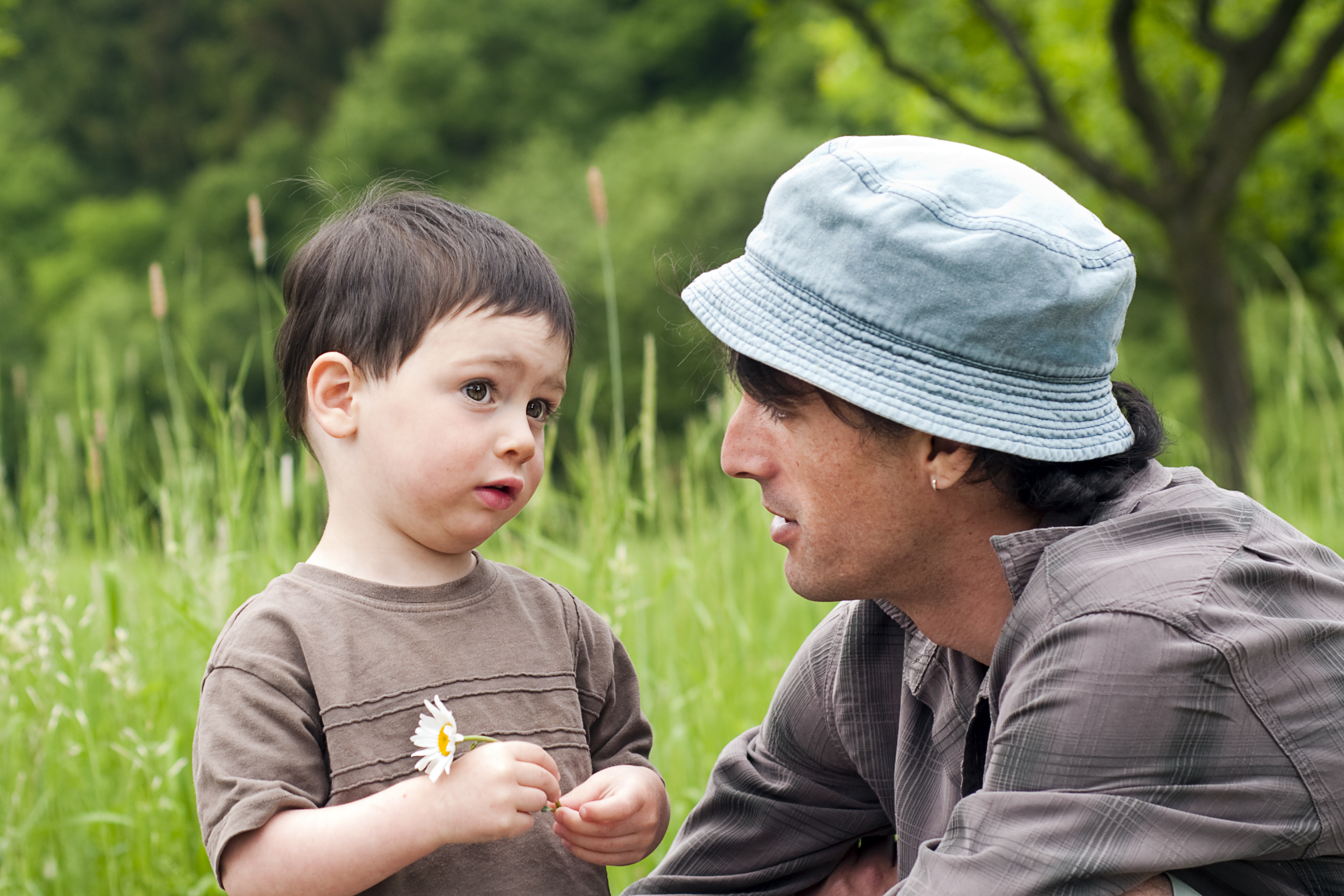 Father And Son Talking