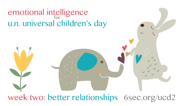 Emotional Intelligence is the foundation for positive relationships -- which empower the rights of children